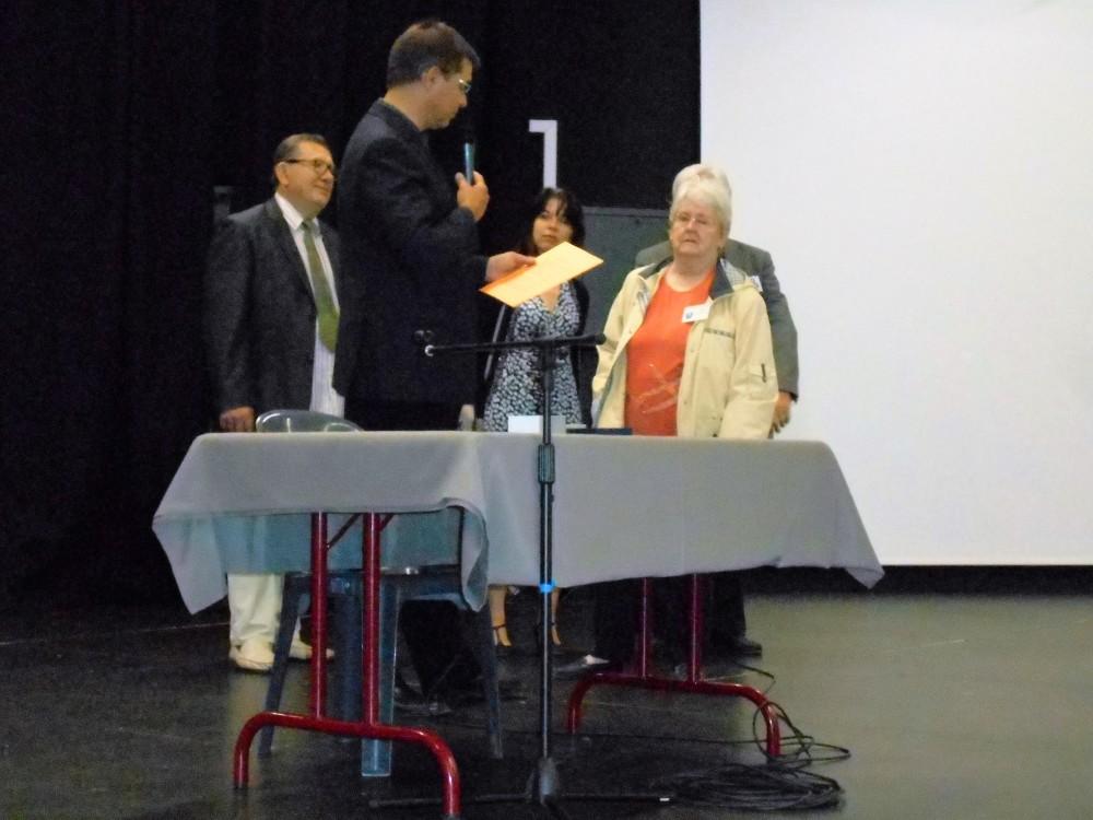 Lors des Journées Régionales, Annie Puyravaud a reçu la médaille de la Fédération